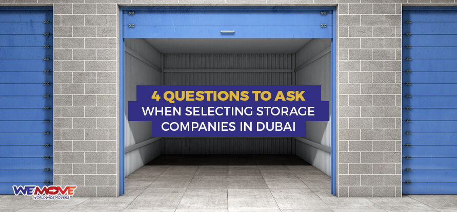 Selecting Storage Companies in Dubai