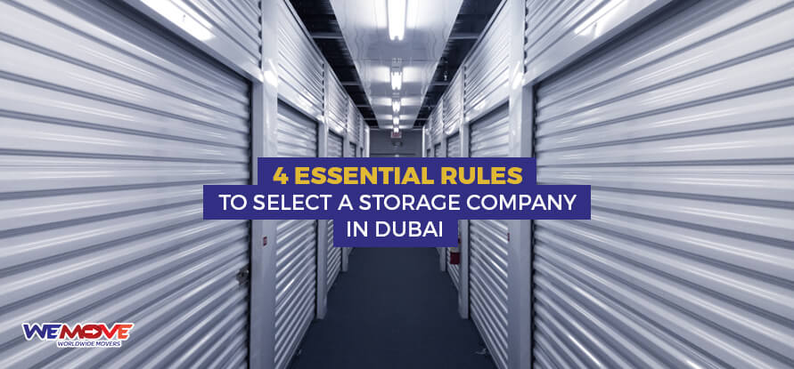 Rules Storage Company in Dubai